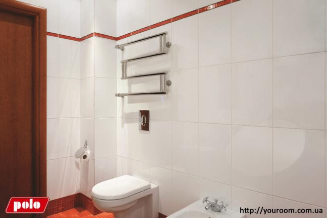 Водяной полотенцесушитель Сенсей в интерьере ванной комнаты