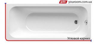 Г — образный карниз ( для прямоугольной ванны)