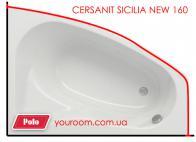 Карниз для ванны Cersanit Sicilia New 160x100