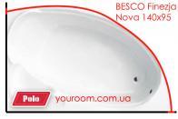 Карниз для ванны Besco Finezja Nova 140х95