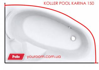 Карниз для ванны Koller Pool Karina 150x100