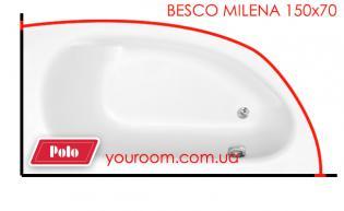 Карниз для ванны Besco Milena 150х70