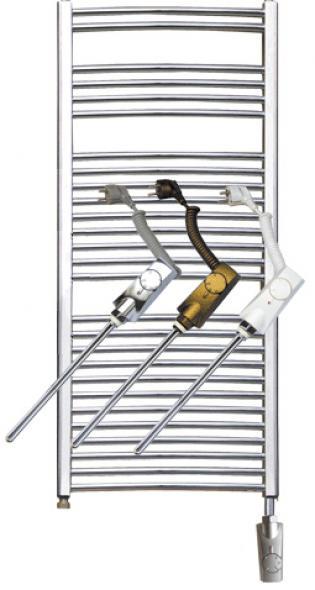 Нагреватель HeatPol GTN для полотенцесушителей (600Вт) в цветовой гамме: белый, хром, золотой.