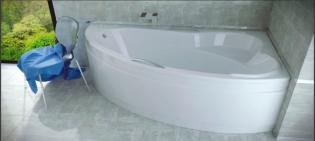 Дуговой карниз для ванны Besco Ada 140х90