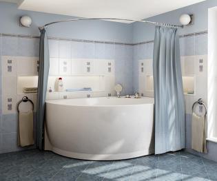 Карниз для угловых асимметричных ванн