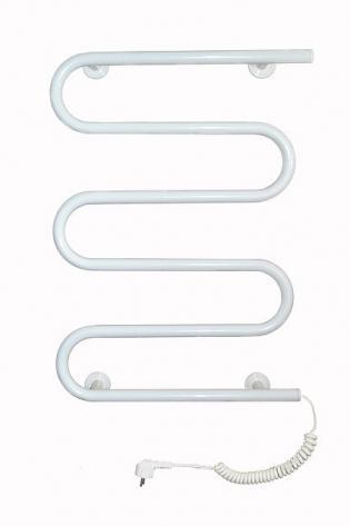 Стационарный полотенцесушитель белый (465х650)