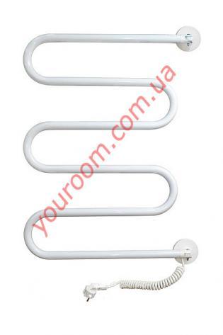 Поворотный полотенцесушитель белый (535х700)