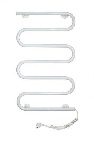Стационарный полотенцесушитель белый (500х780)